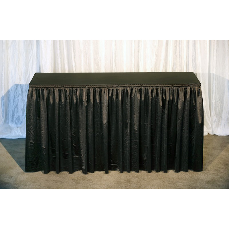 6ft Black Raised Dressed Table (Black Vinyl Top)