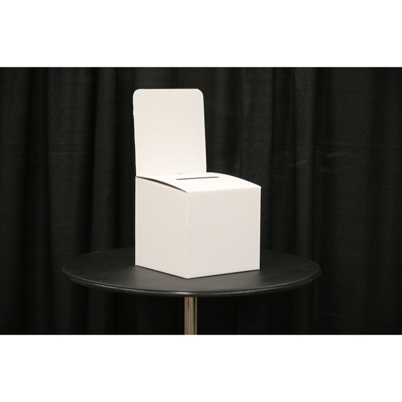 cardboard ballot box with header